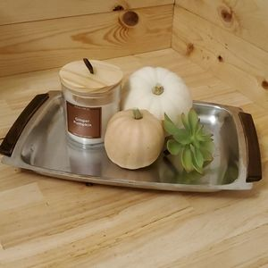 Vintage Danish stainless serving tray